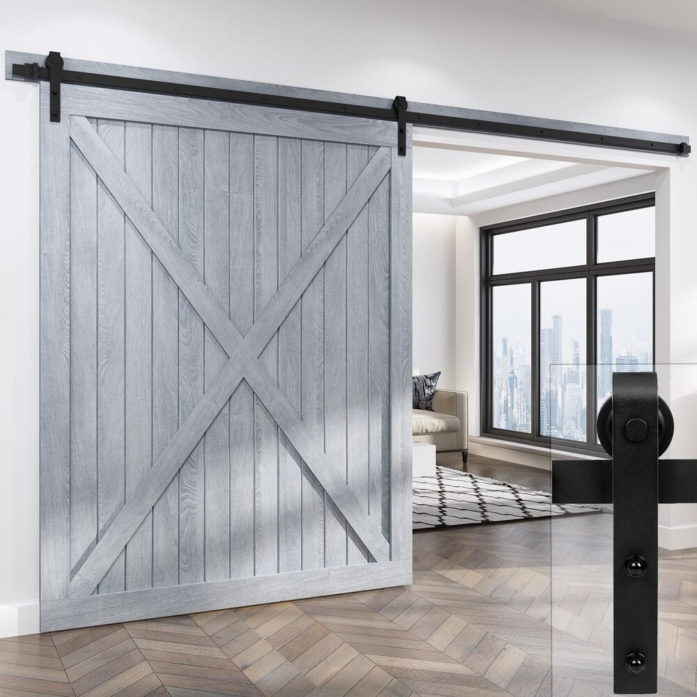 10 12 13 2ft Classic Sliding Barn Door Hardware For Wide