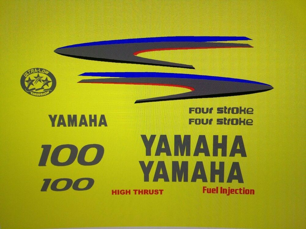 Yamaha  Four Stroke Outboard Decals