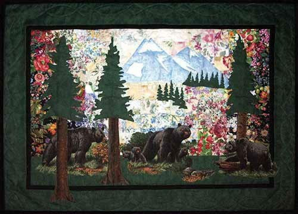 Landscape Quilt Patterns Kits : Whims Watercolor Quilt Kits Bear Country Quilting Supplies, Black, New, Free Shi eBay