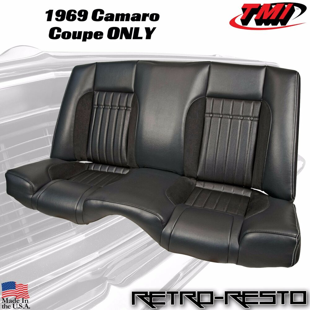 1969 Chevy Camaro Coupe Sport R Rear Seat Upholstery Kit W Foam