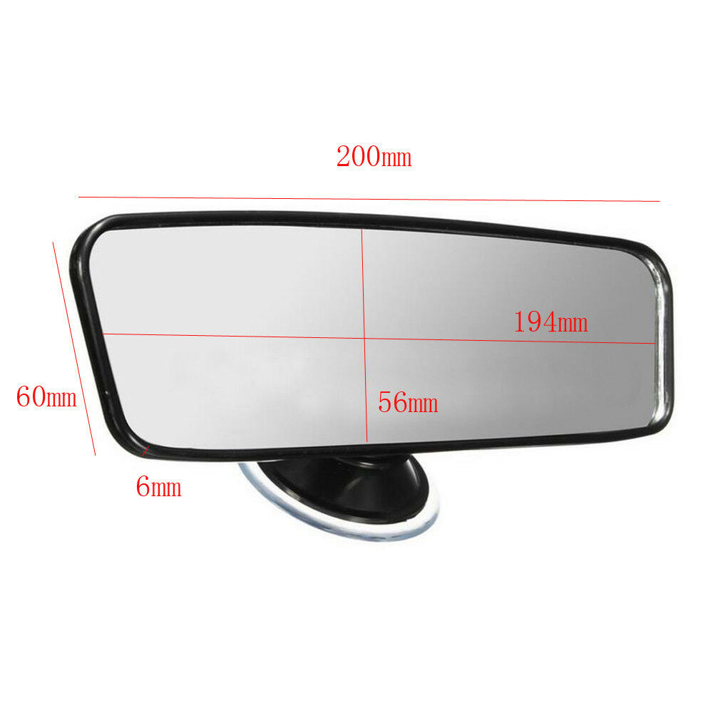 common car truck wide flat interior rear view mirror suction stick rearview ebay. Black Bedroom Furniture Sets. Home Design Ideas
