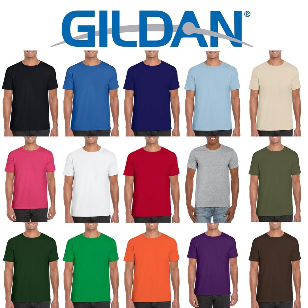 Gildan softstyle cotton plain blank mens womens t shirts for Cheapest t shirts wholesale
