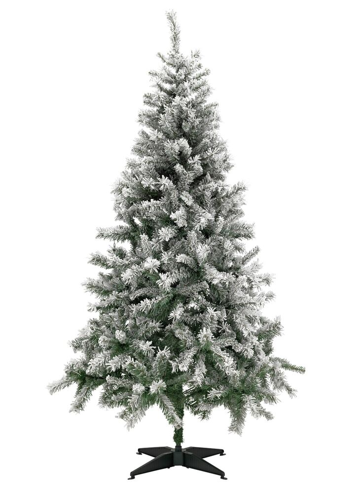 Snow Covered Artificial Christmas Tree