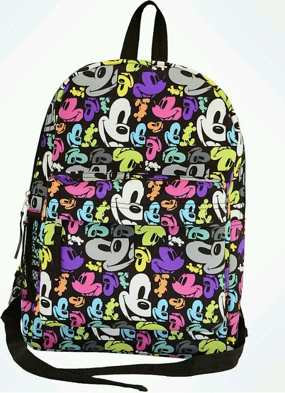Mickey Mouse Pop Art Backpack Faces Disney World Theme ...