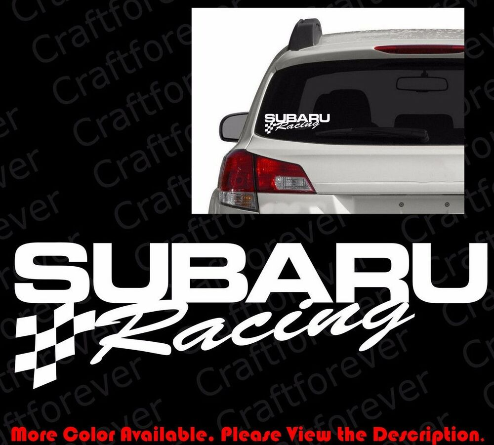 Subaru Sti Wrx Jdm Racing Flag Vinyl Die Cut Decal Sticker