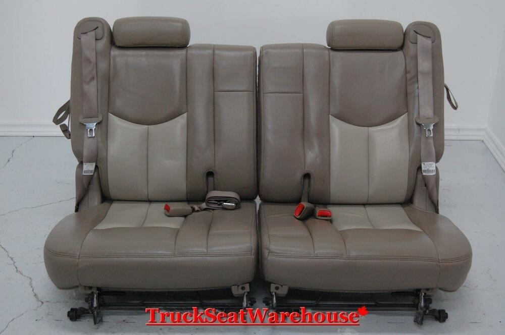 chevy truck escalade two tone tan third row seats 3rd tahoe ebay. Black Bedroom Furniture Sets. Home Design Ideas