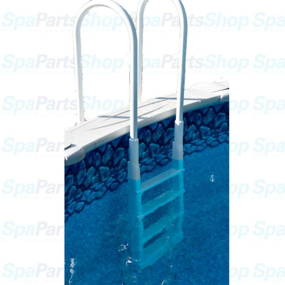Above ground pool in pool deck mount ladder easy for Above ground pool decks and ladders