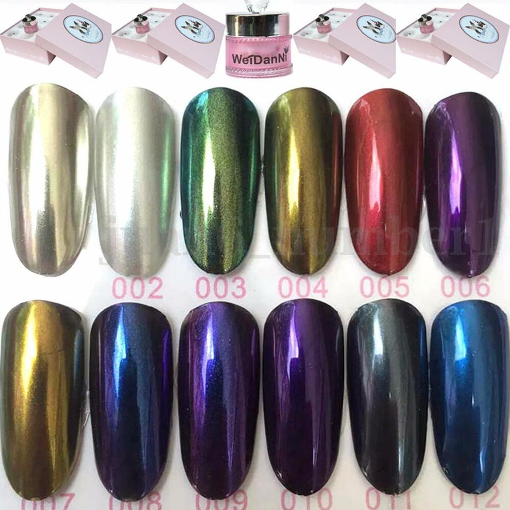 5G Magic Mirror Chrome Effect Powder Metallic Nail Art