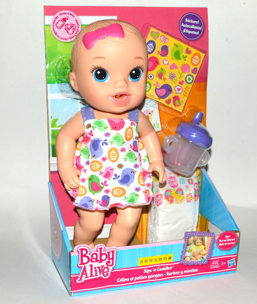 Hasbro Baby Alive Sips N Cuddles With Accessories Ebay