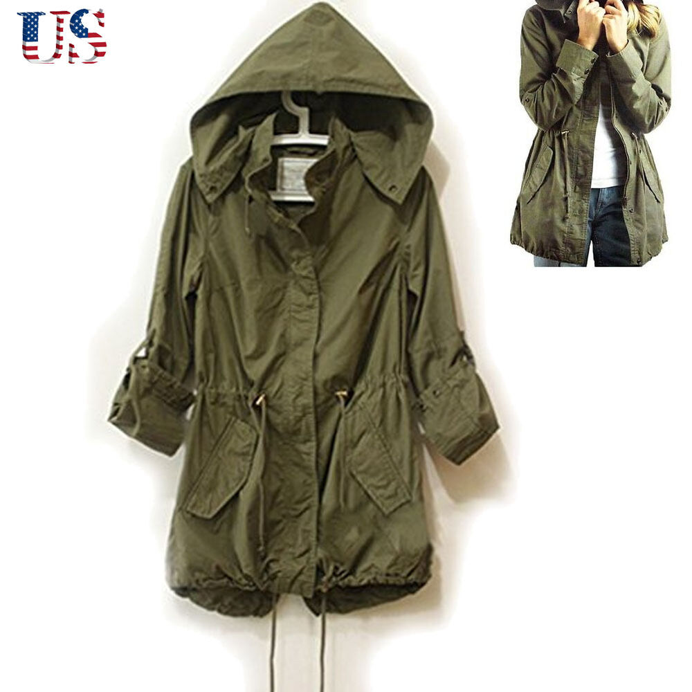 Army Green Jacket Womens