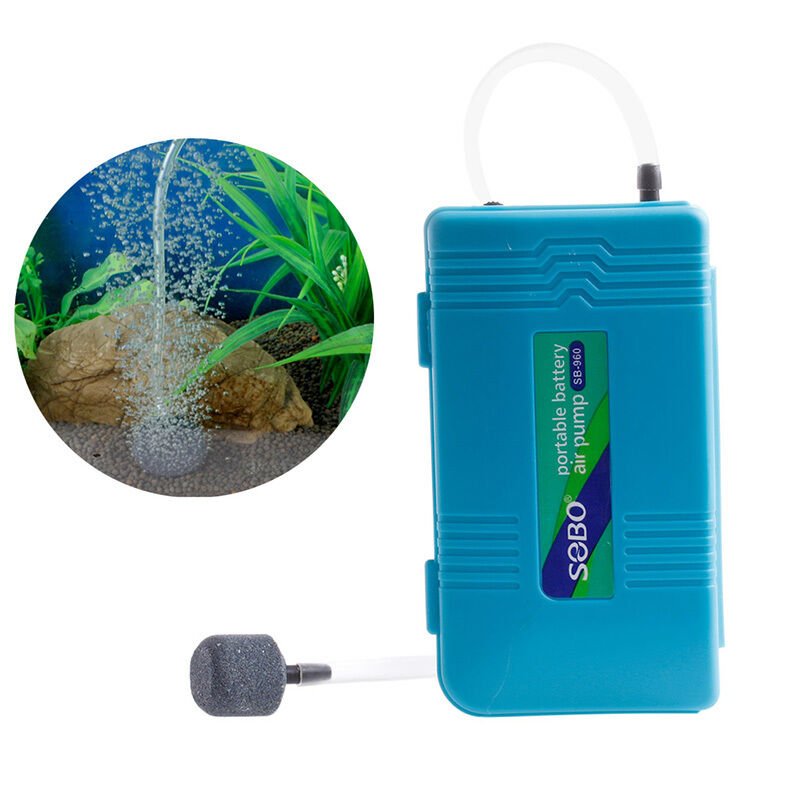 Aquarium battery operated fish tank air pump aerator for Battery operated fish