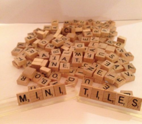 Mini wooden scrabble letters tiles crafts u pick ebay for Ebay wooden letters
