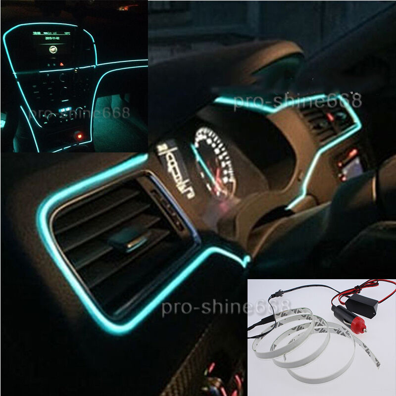3m car interior trim door panel glow decor atmosphere cold strip light for ford ebay. Black Bedroom Furniture Sets. Home Design Ideas
