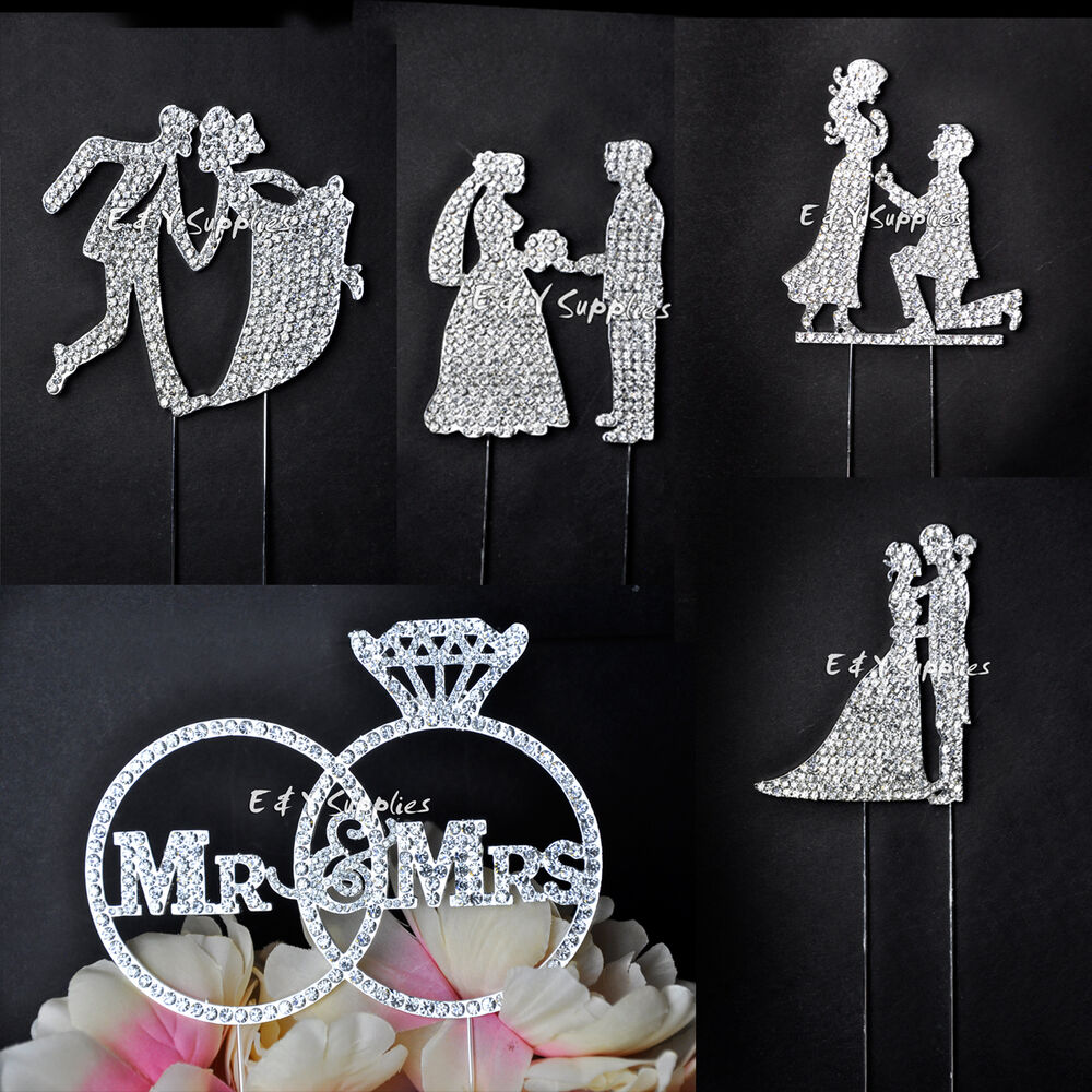 crystal bride and groom wedding cake toppers mr amp mrs wedding cake topper and groom 13104