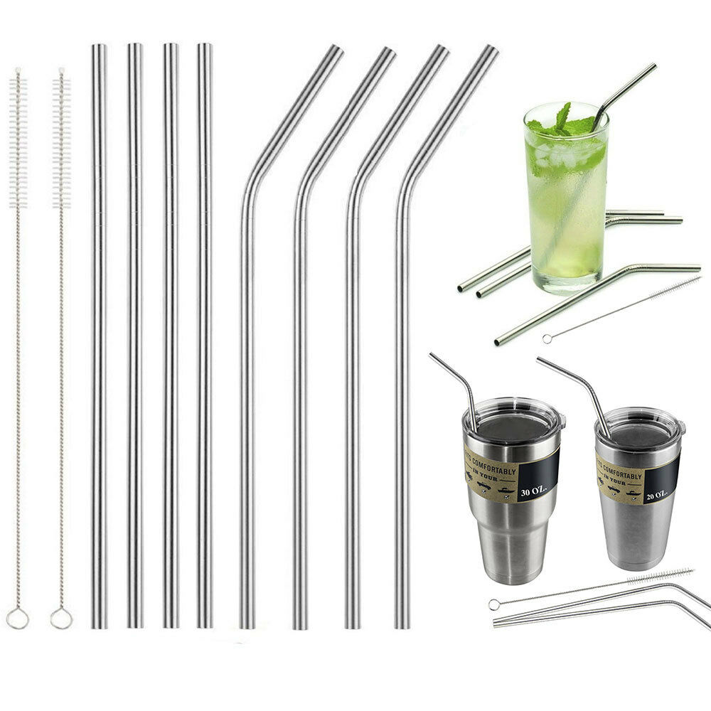 4 Stainless Steel Straws For Yeti For Rtic 20 30 Oz