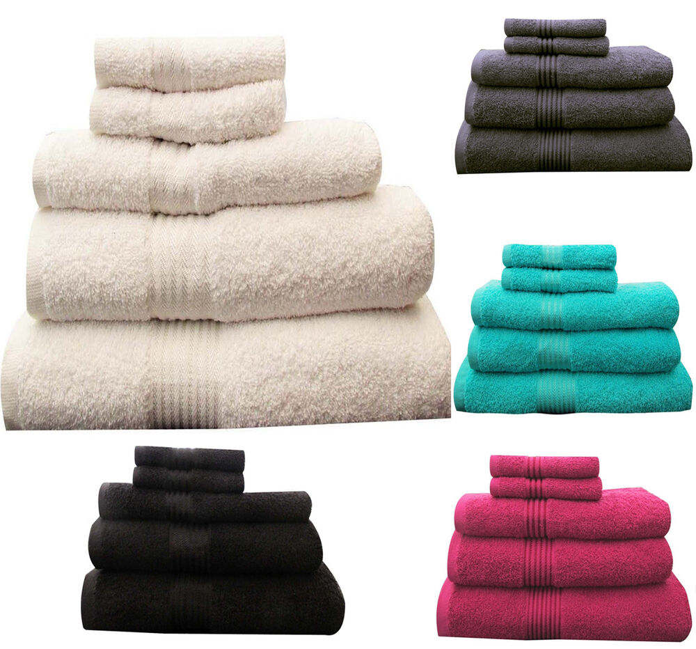 Egyptian Cotton Towel Set Bale Bath Sheet Hand 500 gsm Large Bathroom New Luxury