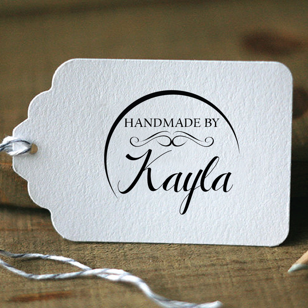 Personalized custom made handmade by name date handle for Custom craft rubber stamps