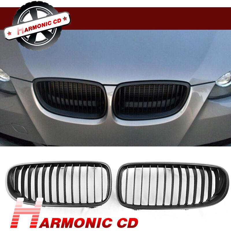 Details About Fits 11 13 Bmw E92 E93 328i 335i Coupe Convertible Matte Black Front Hood Grille
