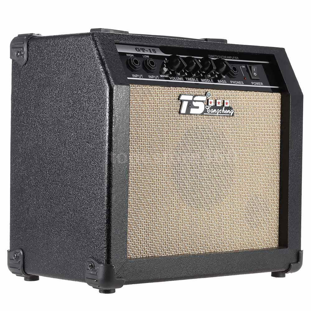 TS 15W 3-Band EQ 2 Channel Electric Guitar Amplifier Distortion Amp ...