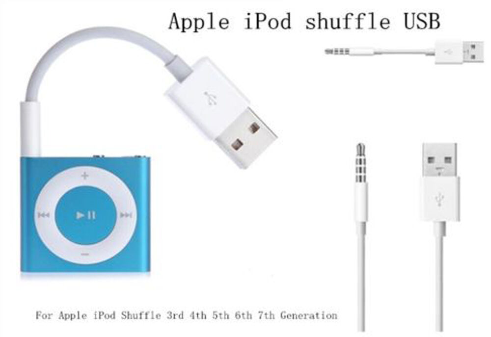 for ipod shuffle 3rd 4th 5th 6th 7 gen usb charger data. Black Bedroom Furniture Sets. Home Design Ideas