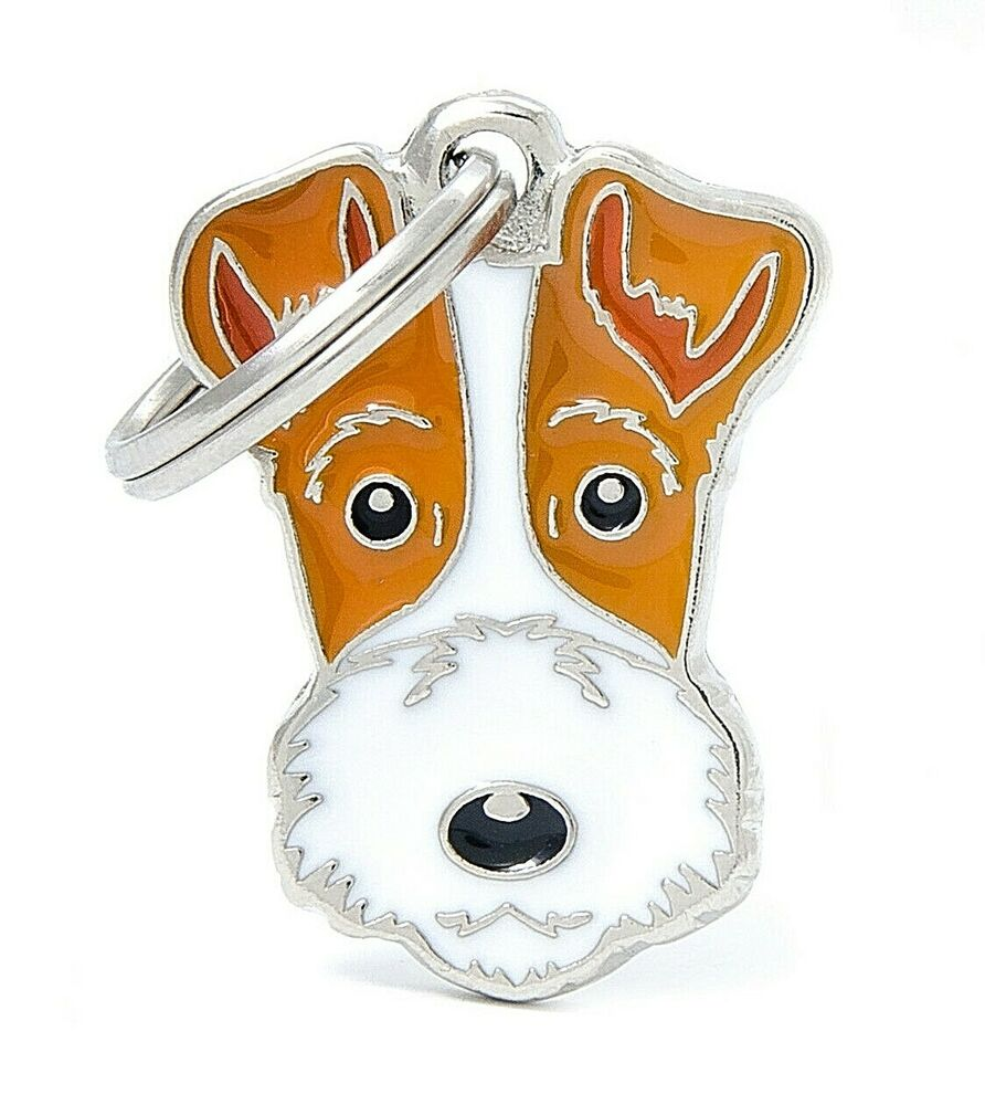 Fox Terrier Dog ID Tag - Engraved FREE - Personalised Identity ...