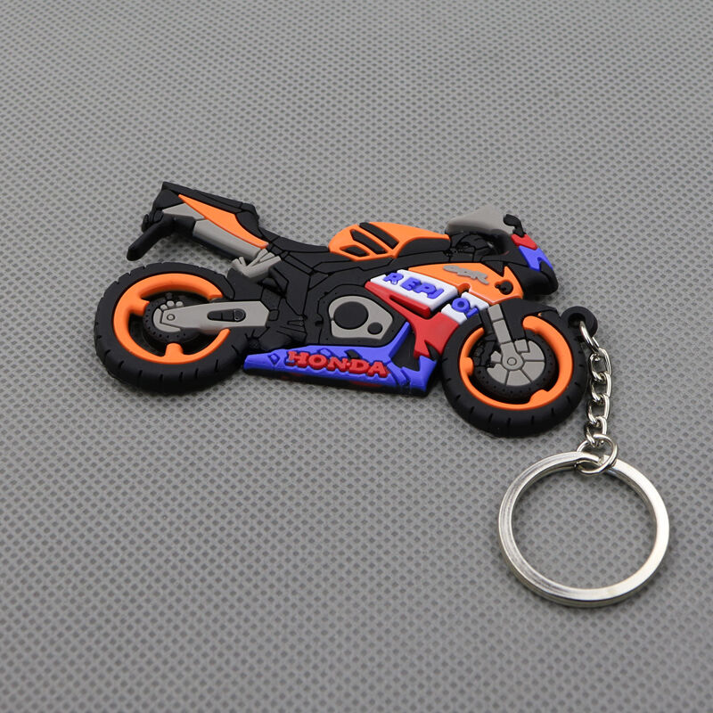 Cool Motorcycle Rubber Keyring Keychain Key Chain Key Ring
