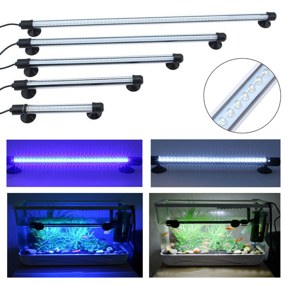 18cm 62cm led aquariumlampe aquarium beleuchtung leuchte lampe wasserdicht wow ebay. Black Bedroom Furniture Sets. Home Design Ideas