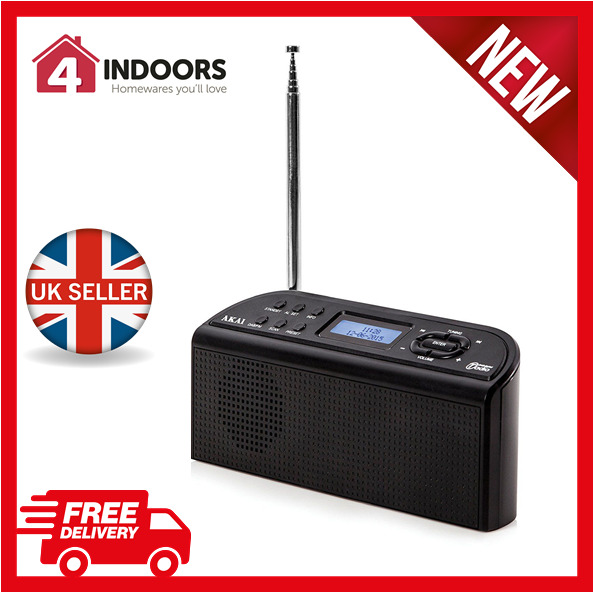 akai a61016 portable dab digital radio ac or battery. Black Bedroom Furniture Sets. Home Design Ideas