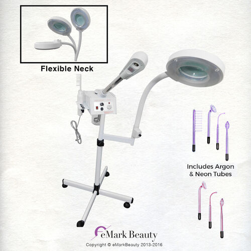 High Frequency Facial Steamer Machine Magnifying Lamp