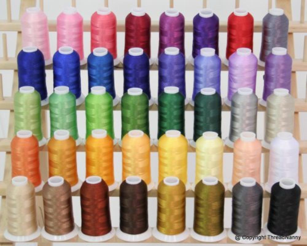 New Brother 40 Colors Embroidery Thread Set 40wt Polyester
