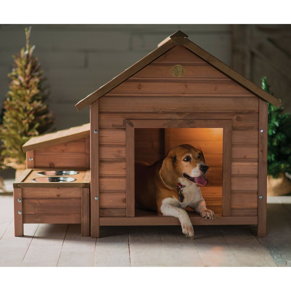 dog house wood outdoor home bed puppy shelter pet kennel