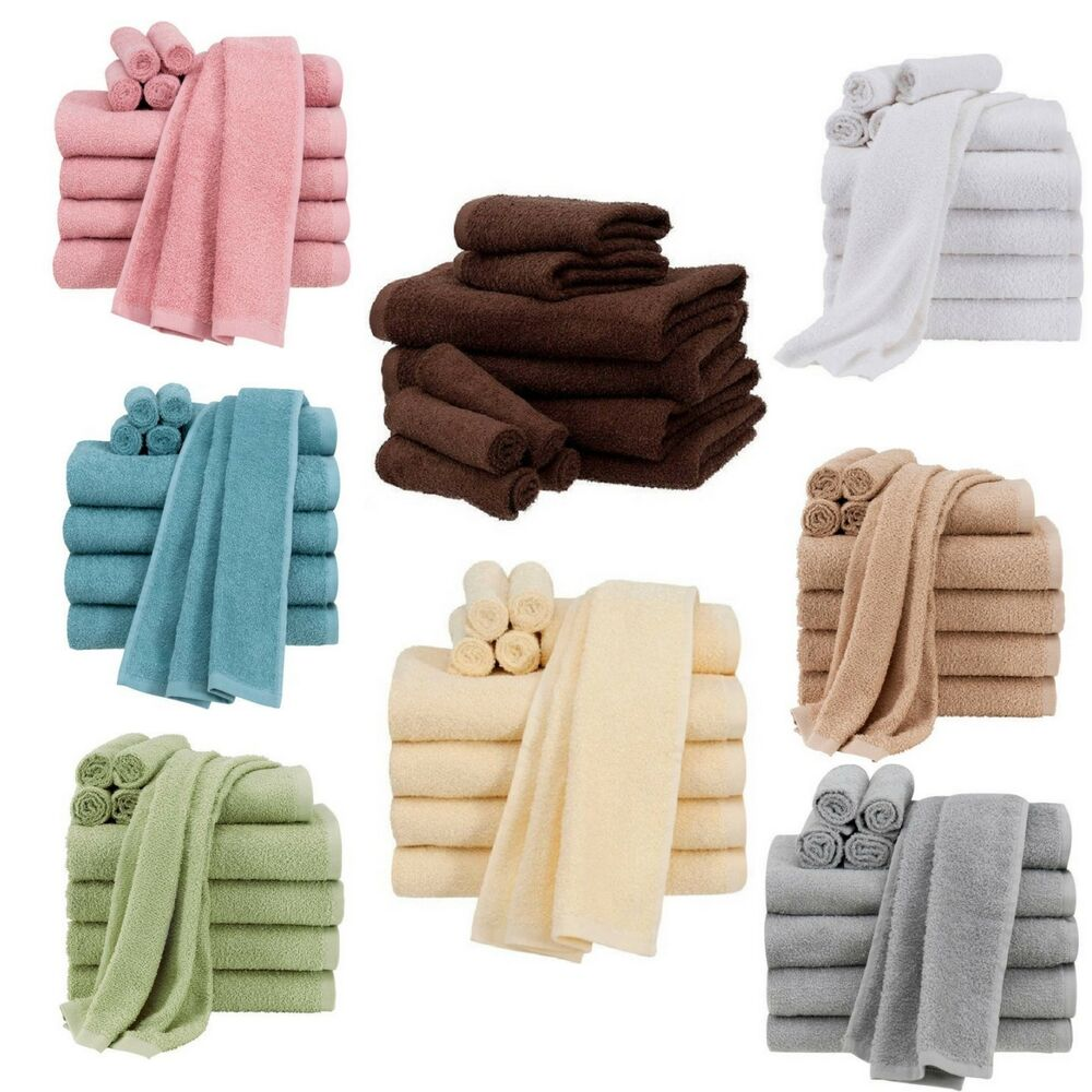10 Piece Towels Set Bath Towels Hand Towels Washcloths