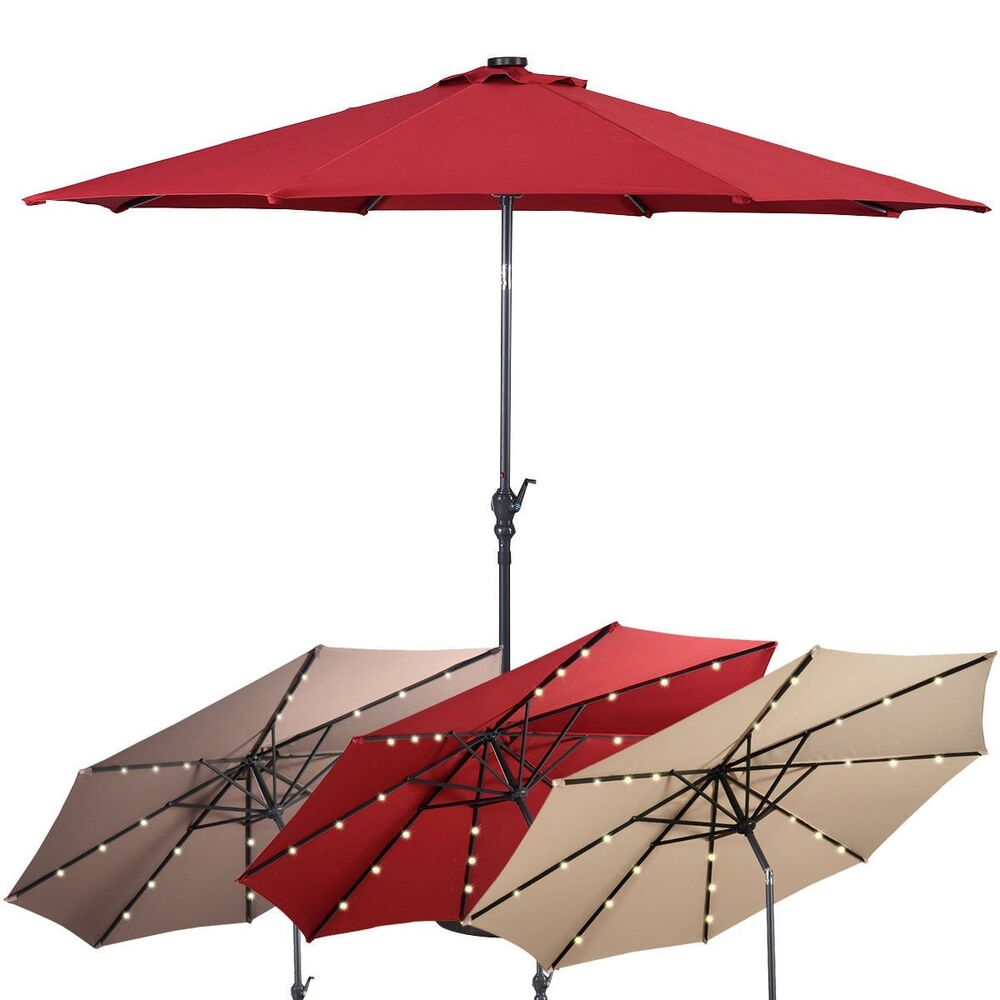 25 Accurate Pictures Of Patio Umbrella Led 100 Side Arm