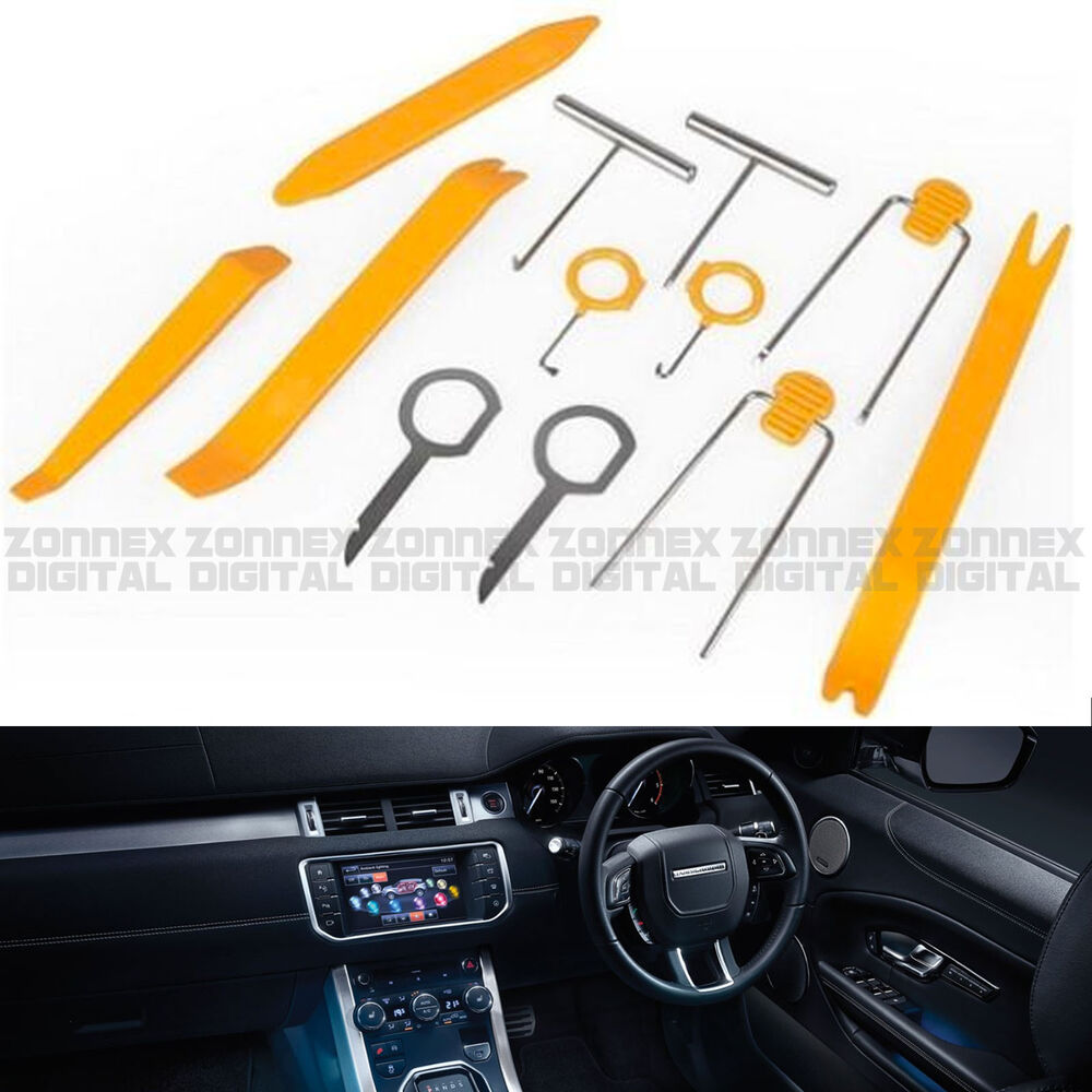 12 car door interior trim panel gps radio audio removal pry tools for land rover ebay. Black Bedroom Furniture Sets. Home Design Ideas