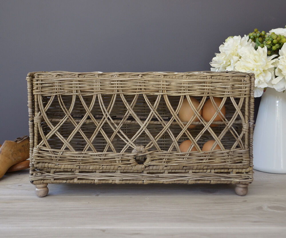 kitchen storage baskets rattan egg basket kitchen egg storage box country style 3119