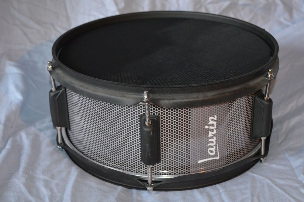 laurin snare 12 mesh pad for roland alesis electronic drum grey grill look ebay. Black Bedroom Furniture Sets. Home Design Ideas
