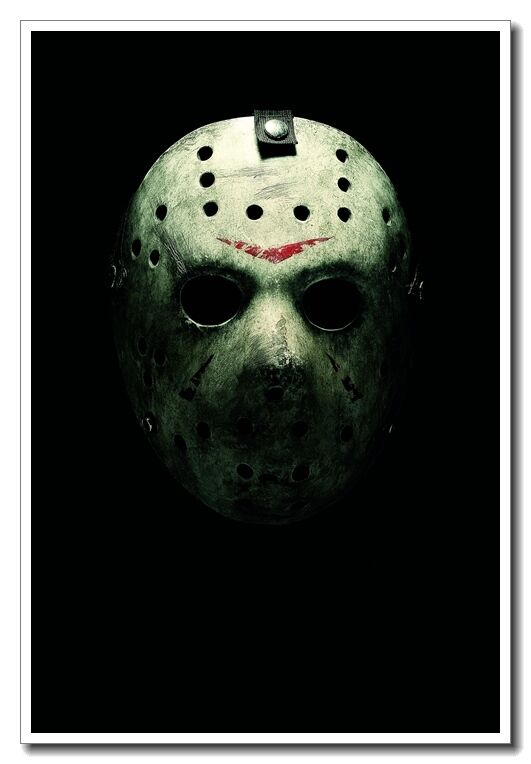 """To Print For Jason Mask Pumpkin Stencil: Friday The 13th Jason Voorhees Mask Horror Movie 24""""x16"""