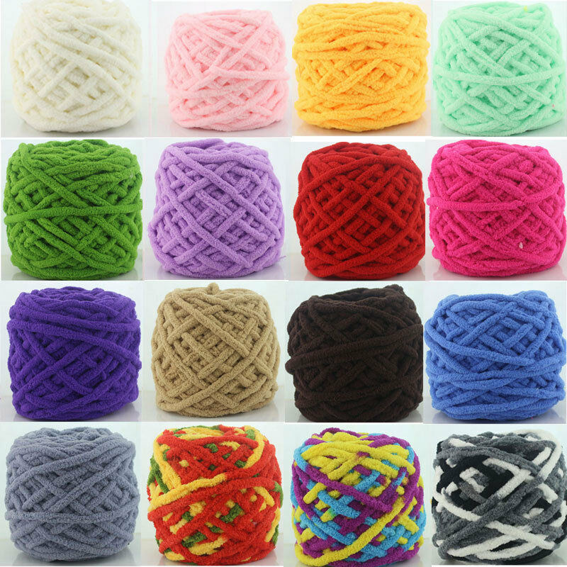 Best Knitting Stitches For Multicolor Yarn : Soft Crochet Staple Cotton 100g Knitting Yarn Baby Knit Wool Yarn Multi-color...