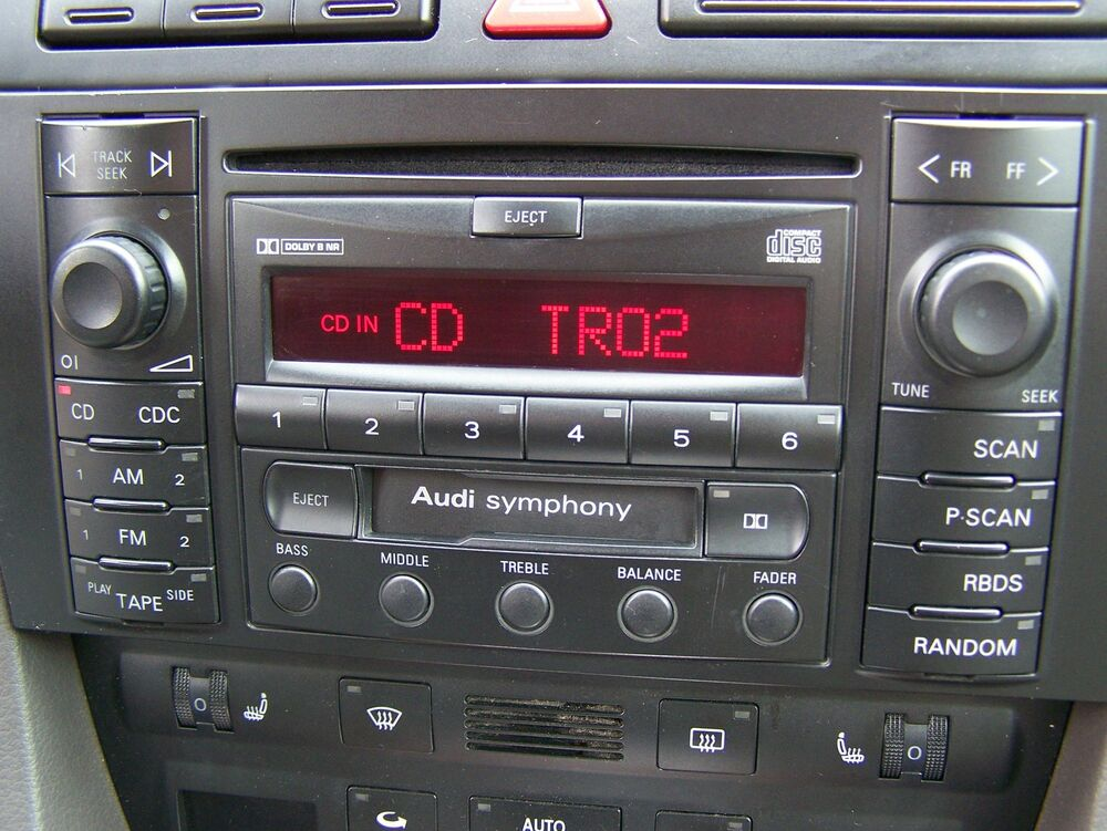 1998 2001 audi a6 s6 symphony bose radio tape cd player. Black Bedroom Furniture Sets. Home Design Ideas