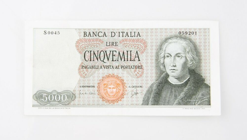6812540385 Details about 1964 Italy 5000 Lire Note XF Banca d'Italia Extra Fine  Italian P#98