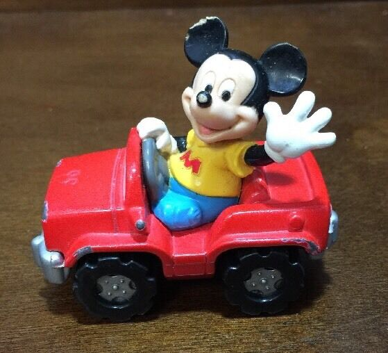 Best Mickey Mouse Toys : Vintage walt disney mattel toy mickey mouse red jeep car