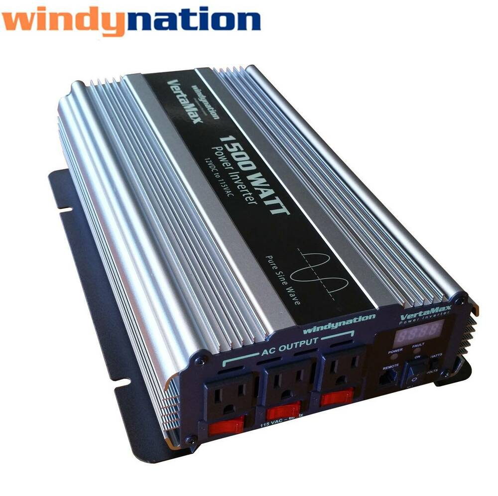 vertamax 1500 watt pure sine wave power inverter dc to ac car rv w lcd display 692761345300 ebay. Black Bedroom Furniture Sets. Home Design Ideas