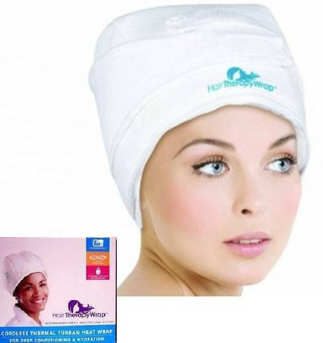 Hair Therapy Heat Wrap Cordless Thermal Turban Deep