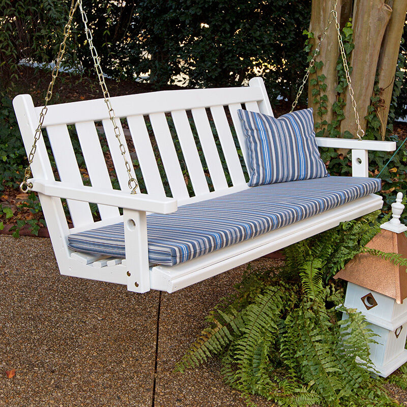 Porchgate Amish Made Mission White Porch Swing Ebay