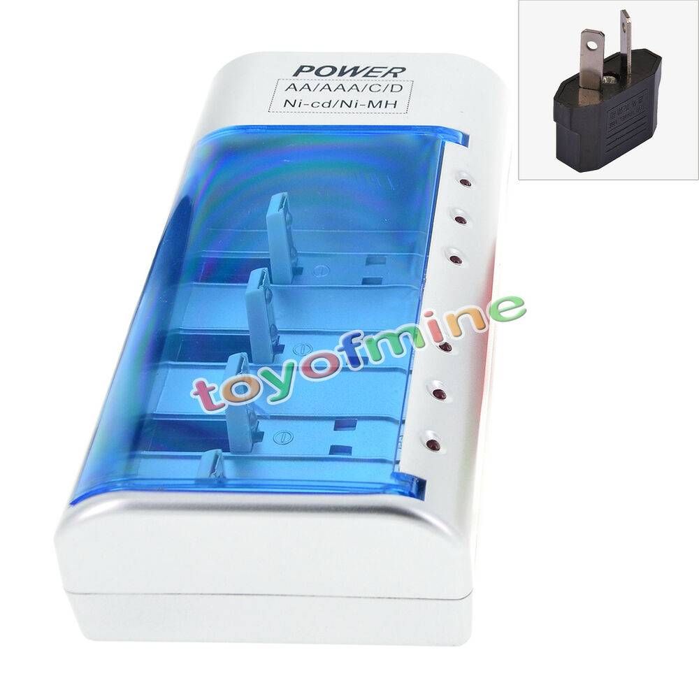 Pp3 9v Aa Aaa 2a 3a C D Size Rechargeable Battery Univeral Charger 12v Nicad 200ma H Us Uk Eu Au Ebay