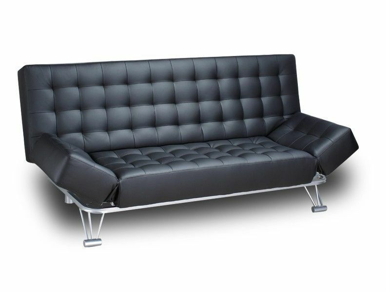 Leather 3 Seater Sofa Bed Luca