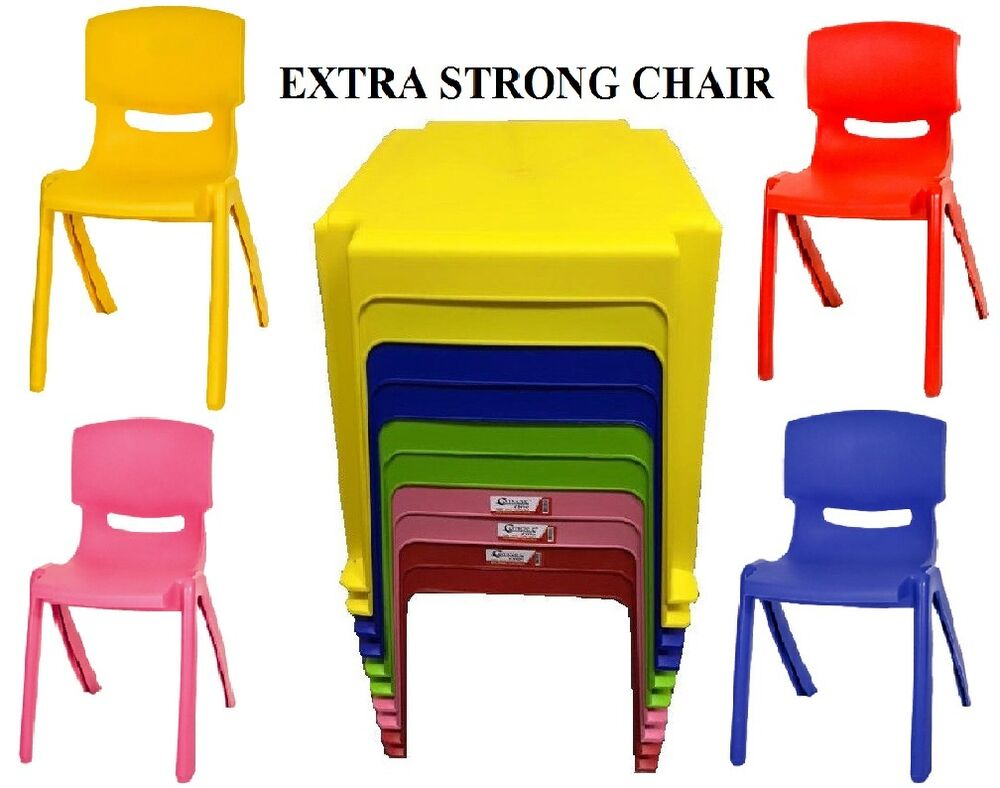 STRONG KIDS PLASTIC TABLE AND CHAIRS SET NURSERY INDOOR ...
