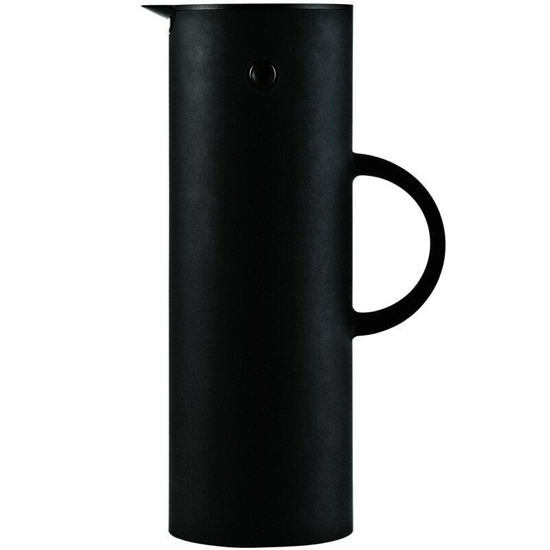 stelton isolierkanne 1 l softschwarz matt thermoskanne ebay. Black Bedroom Furniture Sets. Home Design Ideas