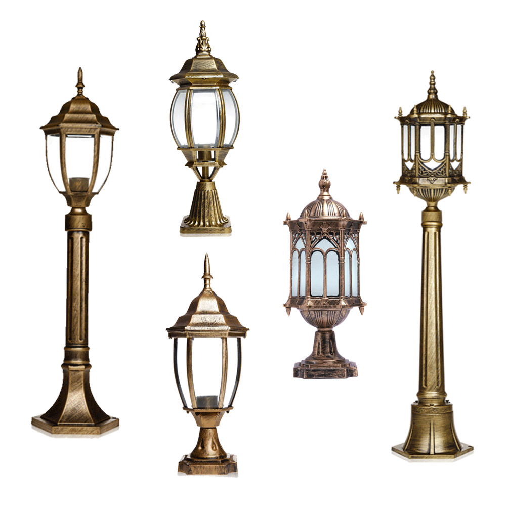 bronze outdoor light fixture post lantern yard garden lighting