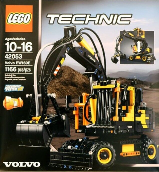 lego technic volvo ew 160e 42053 new factory sealed ebay. Black Bedroom Furniture Sets. Home Design Ideas